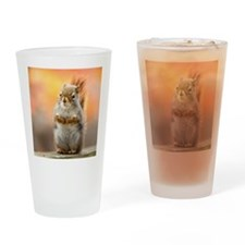 Close up of squirrel sitting on dec Drinking Glass