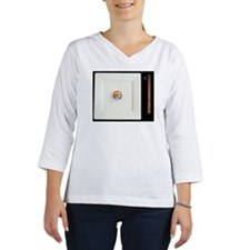 Elevated view of a sushi roll s Women's Long Sleeve Shirt (3/4 Sleeve)