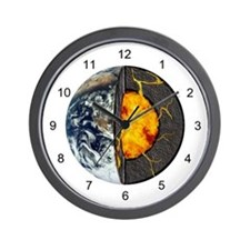 Earth's Core Wall Clock