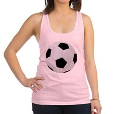 Soccer Ball with Clipping Path Racerback Tank Top