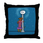 Dachshund Vamp Throw Pillow