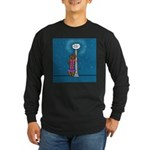 Dachshund Vamp Long Sleeve Dark T-Shirt