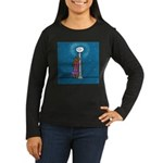 Dachshund Vamp Women's Long Sleeve Dark T-Shirt