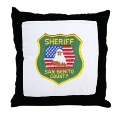San Benito Sheriff Throw Pillow