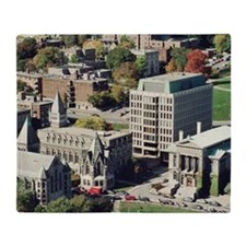 Campus of McGill College in Montreal Throw Blanket