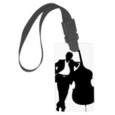Man-With-Double-Bass-01-a Luggage Tag