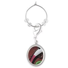 LiquidLibrary Oval Wine Charm
