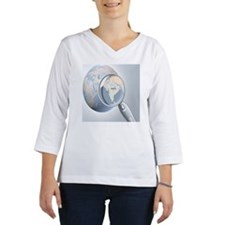 reading glass shows India on a  Women's Long Sleeve Shirt (3/4 Sleeve)