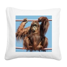 Orangutan on O-line Square Canvas Pillow