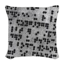 Braille script Woven Throw Pillow