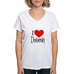 I Love Dostoevsky Women's V-Neck T-Shirt