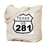 Texas US 281 Highway Tote Bag