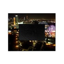 Night view in Kobe, Harborland, one  Picture Frame