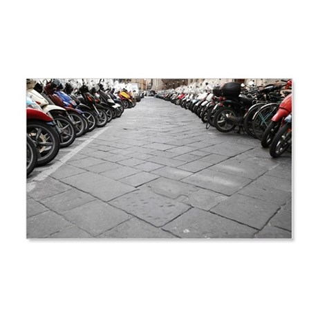 Rows of scooters 20x12 Wall Decal
