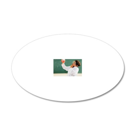 Hispanic boy dressed as scie 20x12 Oval Wall Decal