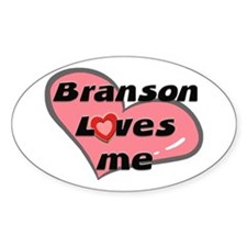 branson loves me Oval Decal