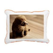 Toy poodle puppy. Rectangular Canvas Pillow