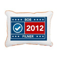Bob Filner Yard Sign Rectangular Canvas Pillow