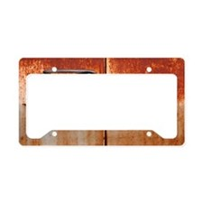 Rusty car door handle License Plate Holder
