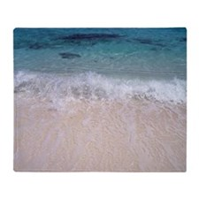 View of seashore Throw Blanket