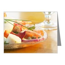 Shellfish entree Note Cards (Pk of 20)