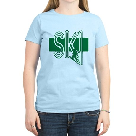 Ski Green Women's Light T-Shirt