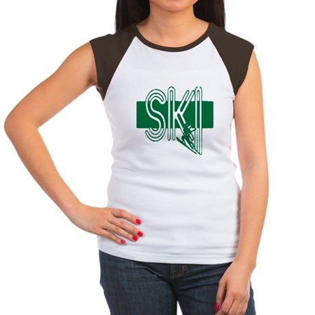 Ski Green Women's Cap Sleeve T-Shirt