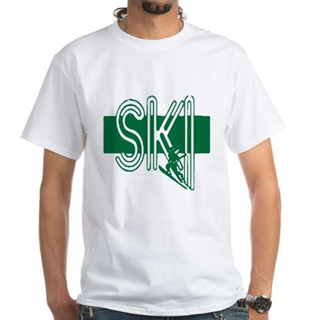 Ski Green White T-Shirt