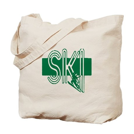 Ski Green Tote Bag