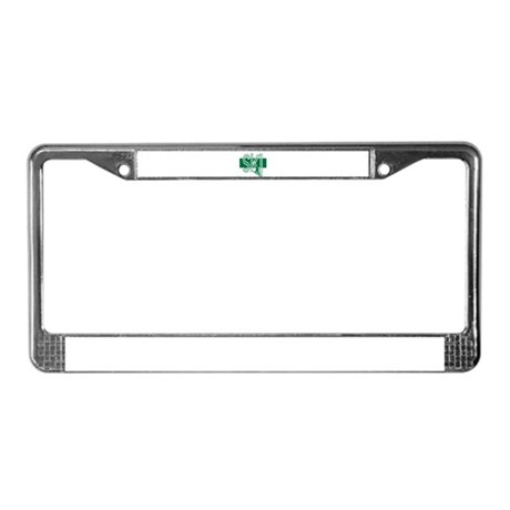 Ski Green License Plate Frame