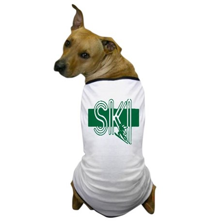 Ski Green Dog T-Shirt