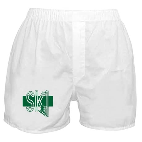 Ski Green Boxer Shorts