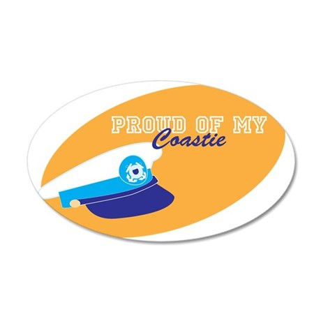 Proud of my coastie 35x21 Oval Wall Decal