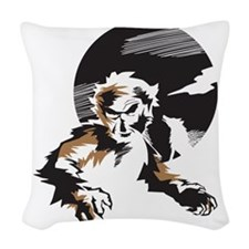 Werewolf Woven Throw Pillow