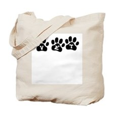 Vet Paw Prints Tote Bag