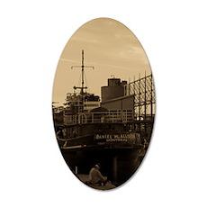 Daniel McAllister Tugboat 35x21 Oval Wall Decal