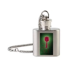 Coloured TEM of a T4 bacteriophage  Flask Necklace