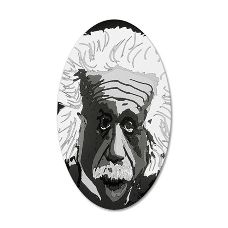 Computer artwork of Albert E 35x21 Oval Wall Decal