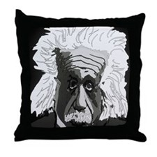 Computer artwork of Albert Einstein Throw Pillow
