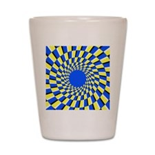 Peripheral drift illusion Shot Glass
