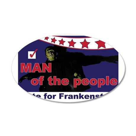 Frankenstein - Man of the pe 35x21 Oval Wall Decal