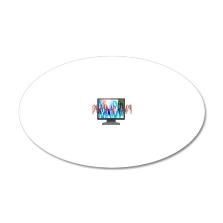 Computers in genetic researc 20x12 Oval Wall Decal