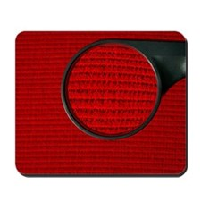 Corduroy under a magnifying glass Mousepad