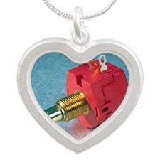 Potentiometer Silver Heart Necklace