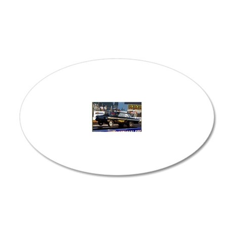 Black FOrd Thunderbolt 20x12 Oval Wall Decal