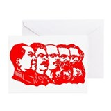 "Mao,Stalin,Lenin,Engels,Marx"" Greeting Cards (Pack"
