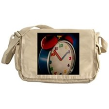 Colourful alarm clock Messenger Bag