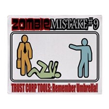 Zombie Mistake Trust Throw Blanket