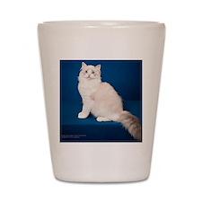 Ragdoll Cat Wall Calendar Shot Glass