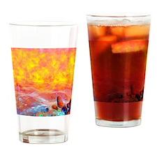 Plasma life forms, artwork Drinking Glass